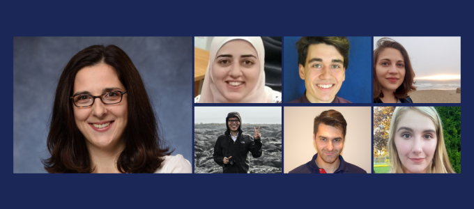 Collage of lab member photos